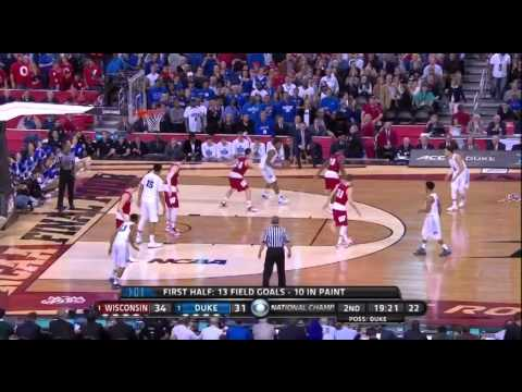 Mike Krzyzewski (Duke) - Offensive Actions vs. Wisconsin (National Championship 2015)