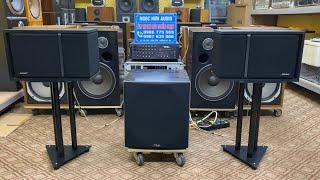 Bộ ghép tuyệt vời cả nghe và hát karaoke ( Loa BOSE 301 sezi 3 +sub Polk Audio 505 + Ampli 203III)