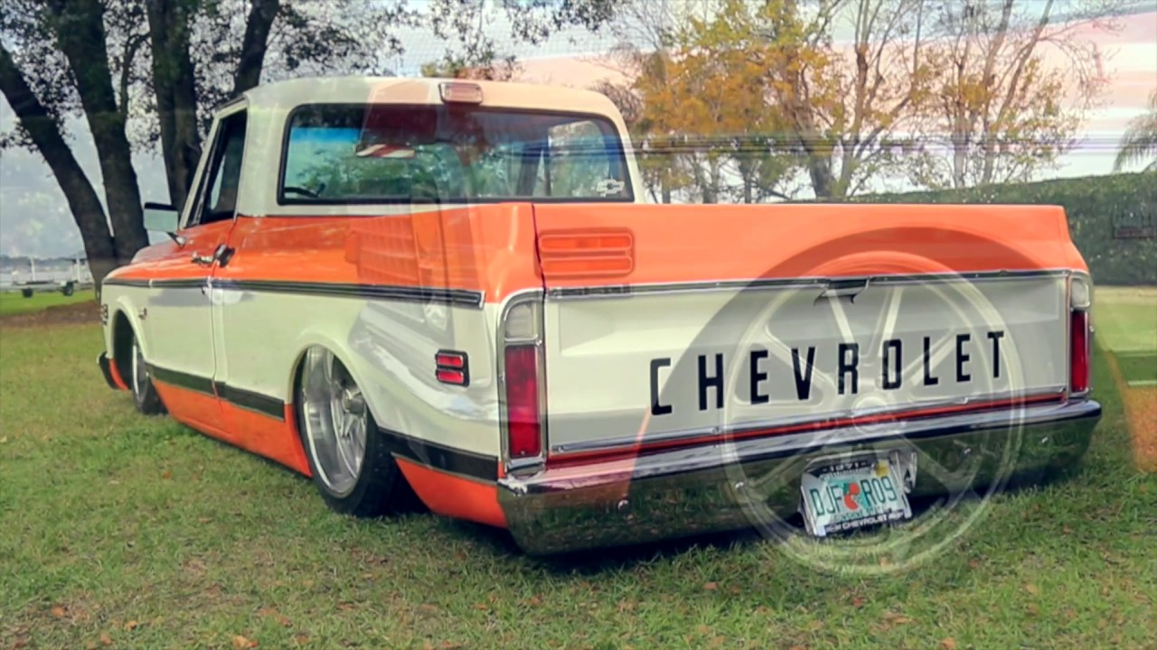 OLD SCHOOL CHEVY TRUCK ON BAGS - YouTube