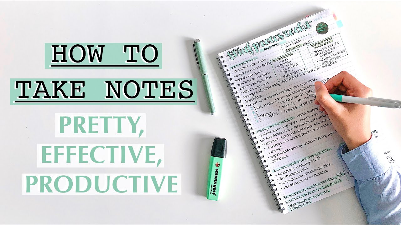 Download HOW TO TAKE NOTES: pretty, productive, effective note taking | TIPS