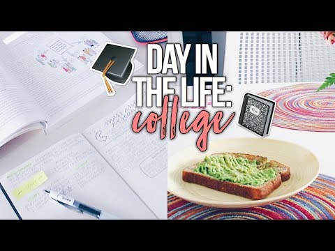 Day In The Life: COLLEGE! | Reese Regan