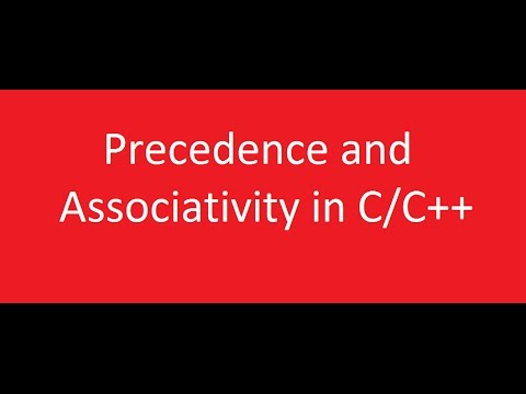Precedence and Associativity in C programming