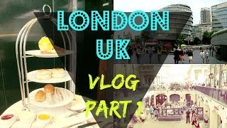 LONDON VLOG #1|2015| Oxford Circus, Afternoon Tea, Youtuber Meet Up!