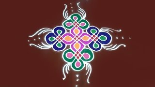 Easy rangoli designs with dots for diwali