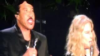 Barbra Streisand & Lionel Ritchie duet 'The Way We Were' (Live) - Hyde Park BST, London - 07/07/2019