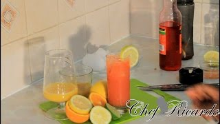 How To Make Jamaica Rum Punch Recipe From Chef Ricardo Cooking