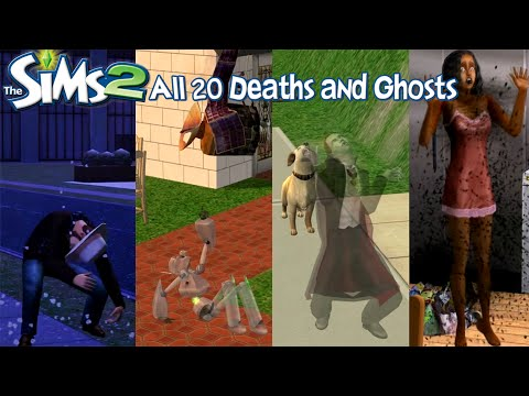 The Sims 2 All 20 Deaths and Ghosts (University-Apartment Life)