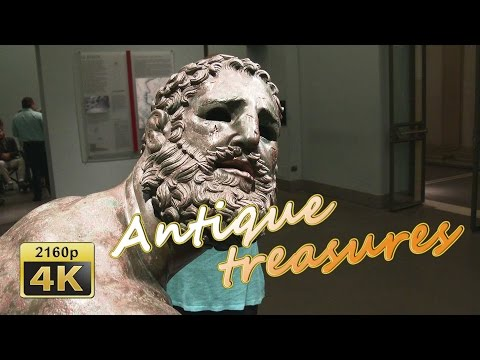 Guided Tour in Museo Nazionale Romano, Roma - Italy 4K Trave