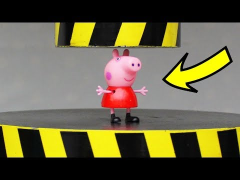 EXPERIMENT HYDRAULIC PRESS 100 TON vs PEPPA PIG and TOYS