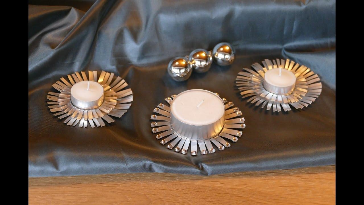 weihnachtsbasteln kerzen und teelichthalter super. Black Bedroom Furniture Sets. Home Design Ideas