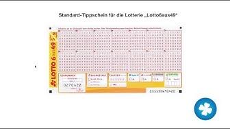 Lotto spielen - wie Du einen Lottoschein richtig ausfüllst!