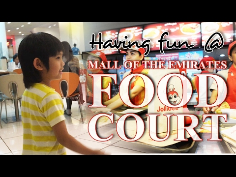 Having Fun @ Mall Of The Emirates Foodcourt