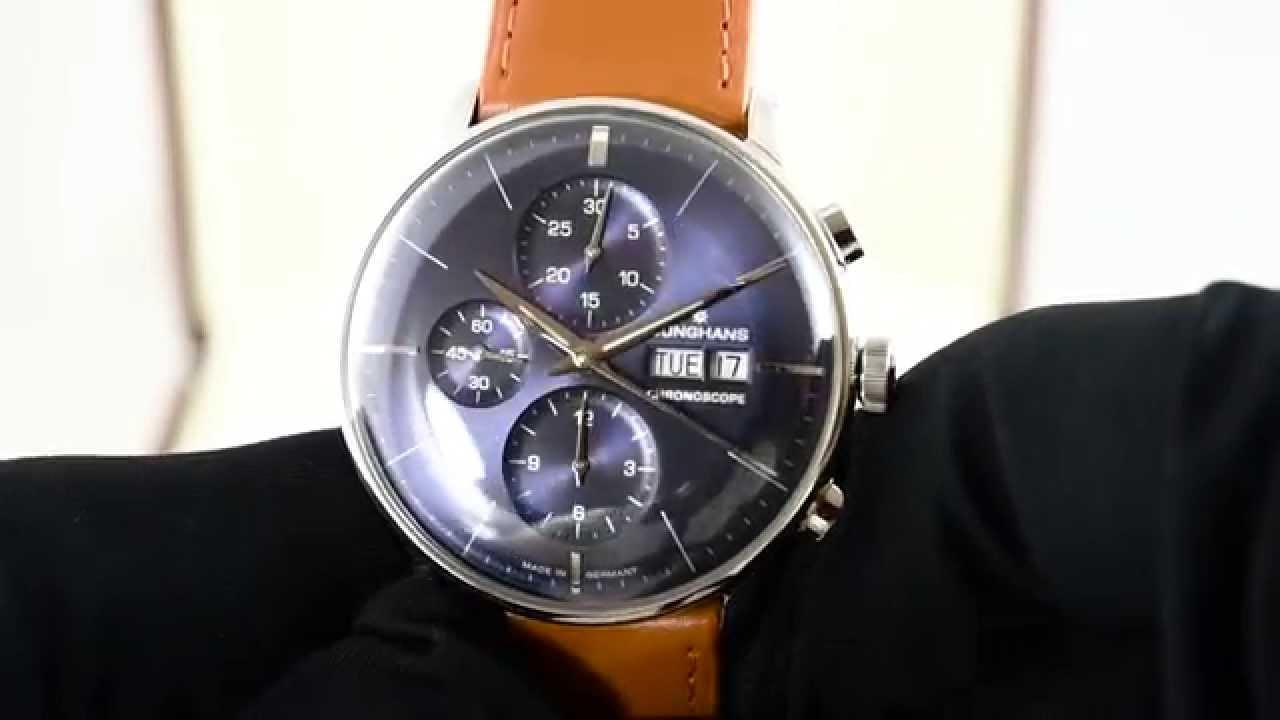 7b752fe33bbdc Junghans Meister Chronoscope 027 4526.01 - YouTube