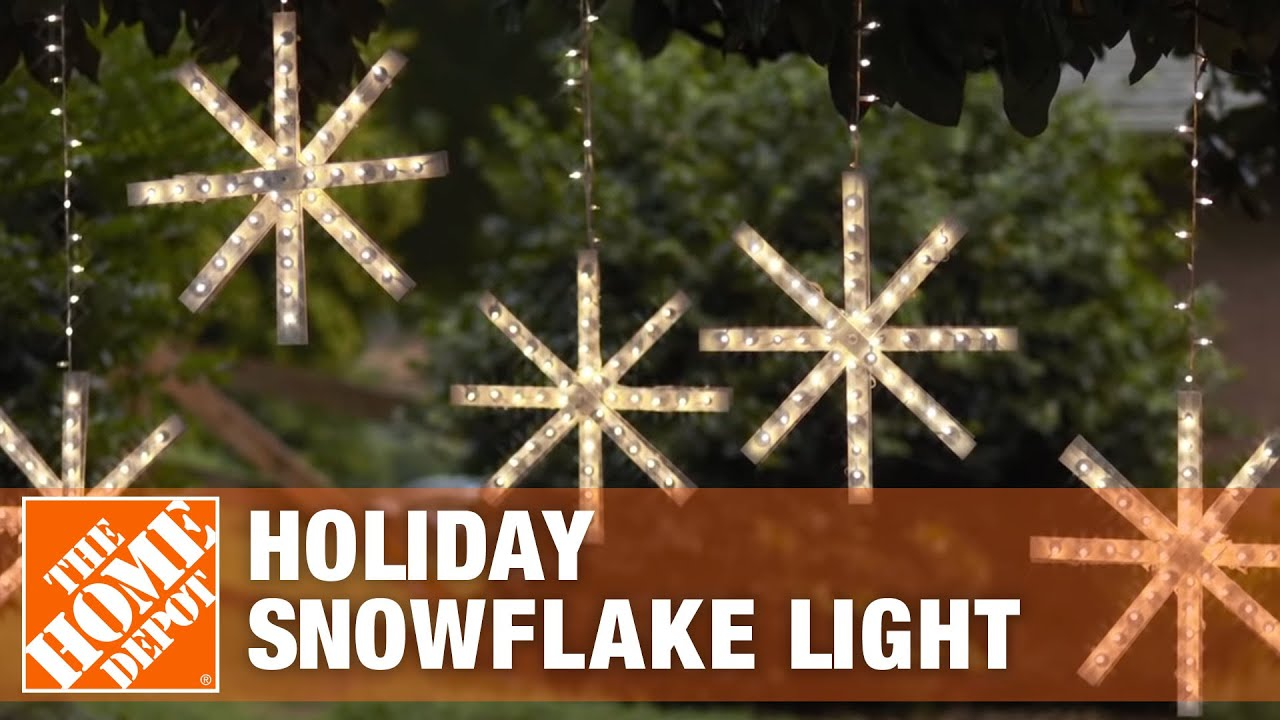 Holiday Snowflake Light The Home Depot
