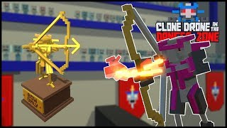 BOW ONLY CHALLENGE! // Clone Drone in the Danger Zone Dansk #5
