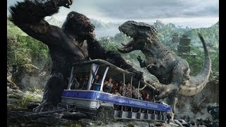 king kong 3d attraction right side of tram at universal studios hollywood