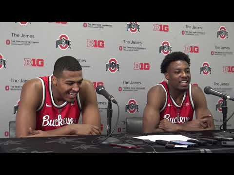 Kaleb Wesson and Andre Wesson postgame Cleveland State Nov 23 2018
