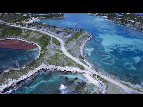 4K view of Devil's Bridge Antigua