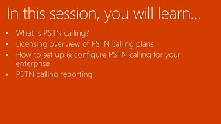 Configuring Calling Plans in Microsoft Office 365 - BRK2301