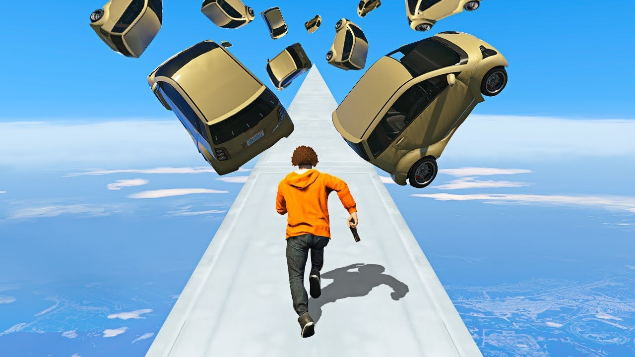 I TRIED THE HARDEST FALLING CAR OBSTACLE! - GTA 5 Funny Moments