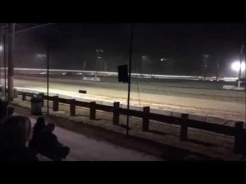 Bad crash, Novice Sportsman Feature 7-15-16 Ransomville Spedway
