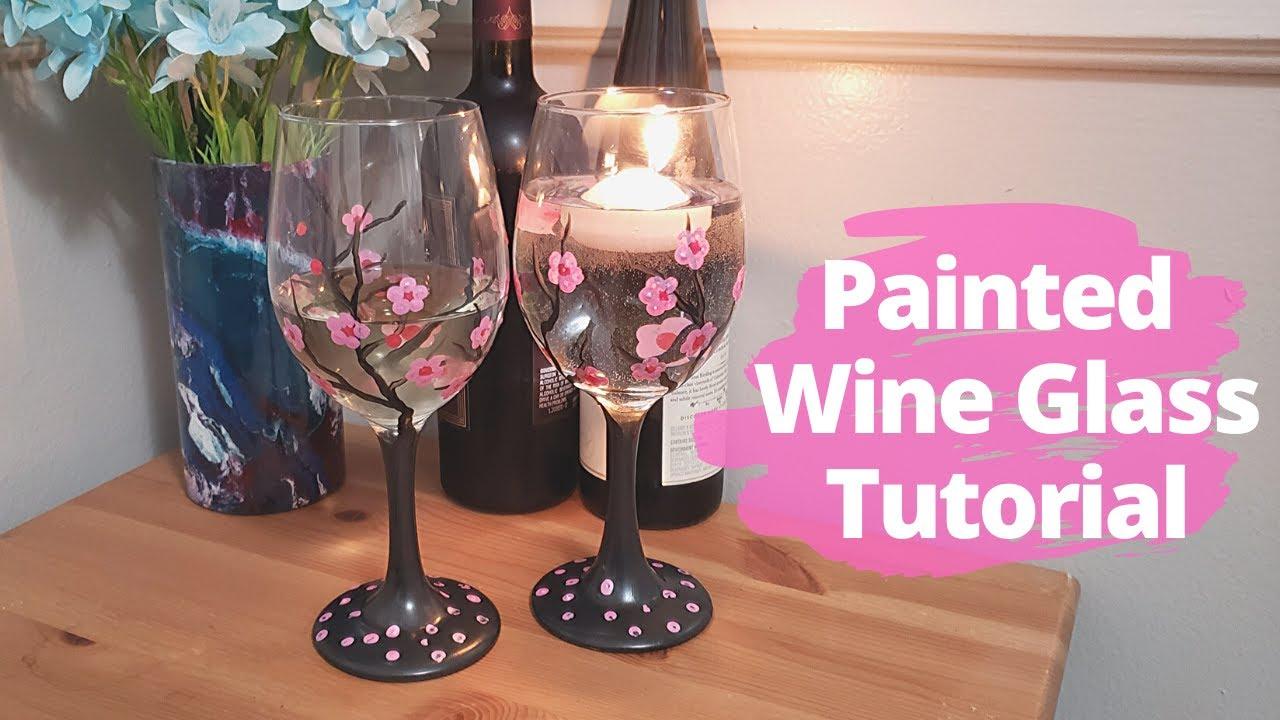 Painted Wine Glass Diy Tutorial Hometalk Youtube