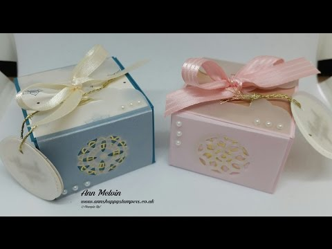 Beautiful Gift Box With Vellum Wrap For Glass Tealight/Small Gifts