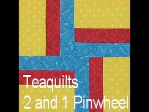 Quilt Block 2 And 1 Pinwheel 8 Finished Great Stash Buster