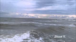 Шторм на Черном море. Железный Порт (июль 2013)(Шторм на пляже пансионата