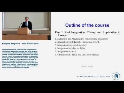 European Integration - Lecture 1