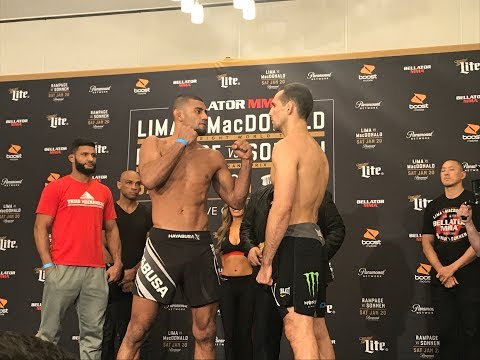Bellator 192: Douglas Lima vs. Rory MacDonald Weigh-In Staredown – MMA Fighting