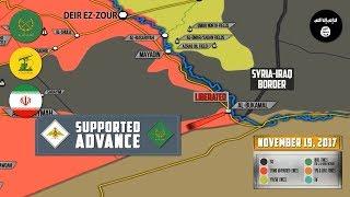 20 ноября 2017. Военная обстановка в Сирии. Сирийские силы вновь отбили последний оплот ИГИЛ.