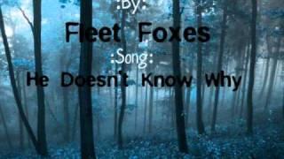 Fleet Foxes-He Doesn