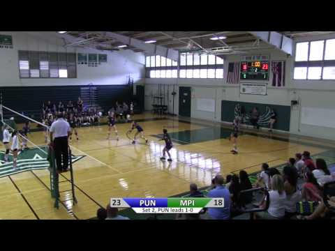 2016 Girls Varsity Volleyball: Punahou vs. Mid Pacific Institute Highlights (September 2, 2016)