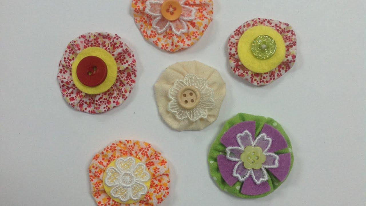 Como hacer unas flores yoy de tela muy originales hazlo - Hazlo tu mismo manualidades ...
