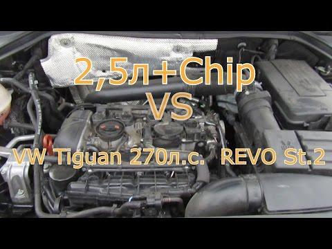 VW Tiguan 270 л.с. Revo st.2 vs CX 5 chip