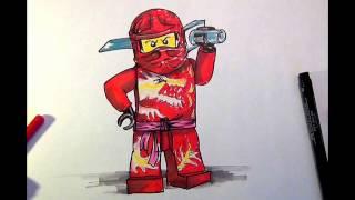 How to Draw #Kai# LEGO Ninjago