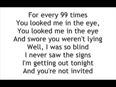 Kate Voegele - 99 Times Lyrics