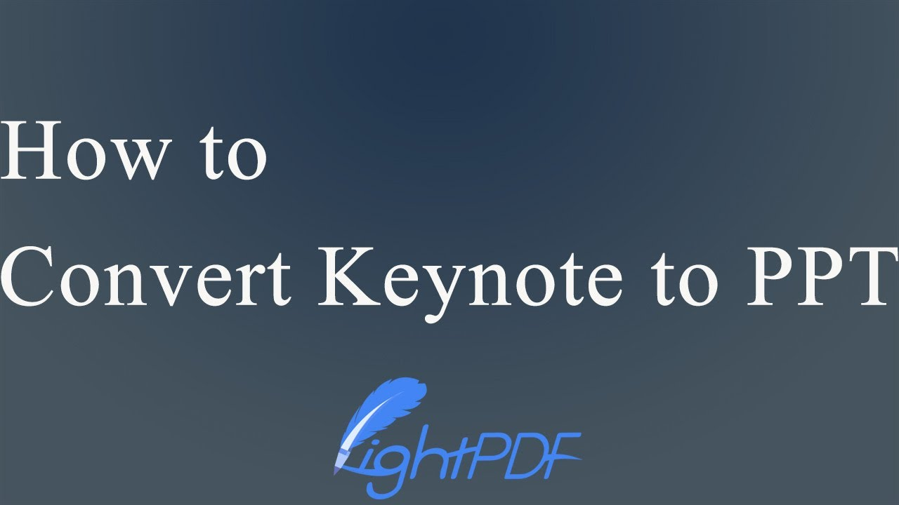 Simplest Ways to Convert Keynote to PowerPoint