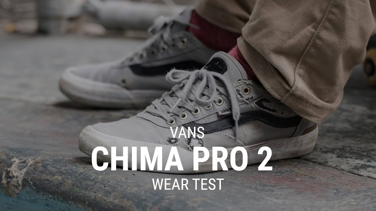 6534f0422da835 Vans Chima Pro 2 Skate Shoes Wear Test Review - Tactics.com - YouTube