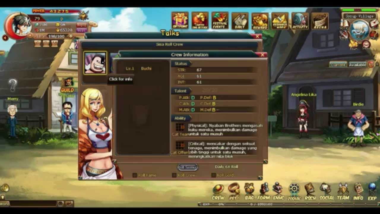 Pirate King | Guide | Bar System | Game Online | Web ...