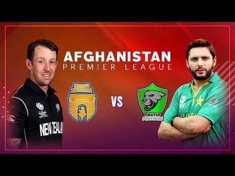 APL 2018 Match 1: Kabul Zwanan vs Paktia Panthers Live Stream -  Afghanistan Premier League - APLT20