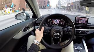 2019 Audi A4 Quattro 60 FPS POV drive test drive acceleration and crazy bike bmw s1000rr wheelie