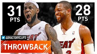 Throwback: LeBron James & Dwyane Wade Full Highlights vs Knicks (2012.01.27) - CRAZY DUNK SHOW!