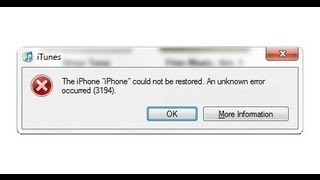 How to Fix iTunes Error 3194 in Windows to Update (any iOS 5, 6, & 7)