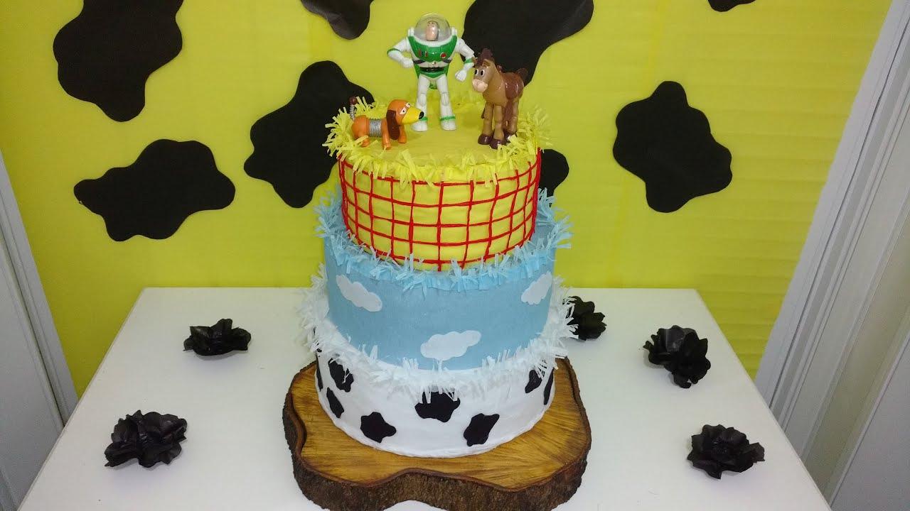 Decoracao fazendinha luxo bolo falso ccs decoracoes eventos car - Aula 59 Como Fazer Bolo Fake Em Papel Crepom Festa Toy Story Youtube