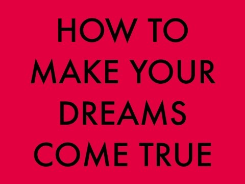 how to make your dream come Want to know how to be successful and make your dreams come true the first step is figuring out what those dreams are and then it's all about planning for t.