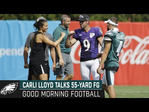 Carli Lloyd Could Become First Woman to Play in the NFL