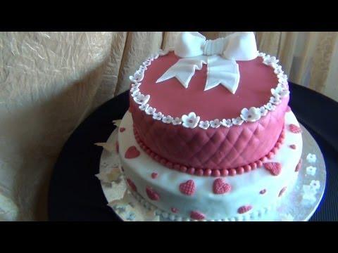 Come realizzare e decorare  una torta a  2 piani  per compleanno,TUTORIAL SEMPLICE