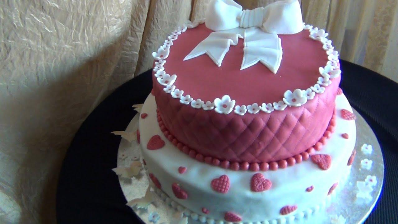 Come realizzare e decorare una torta a 2 piani per compleanno ... 193a21d908de